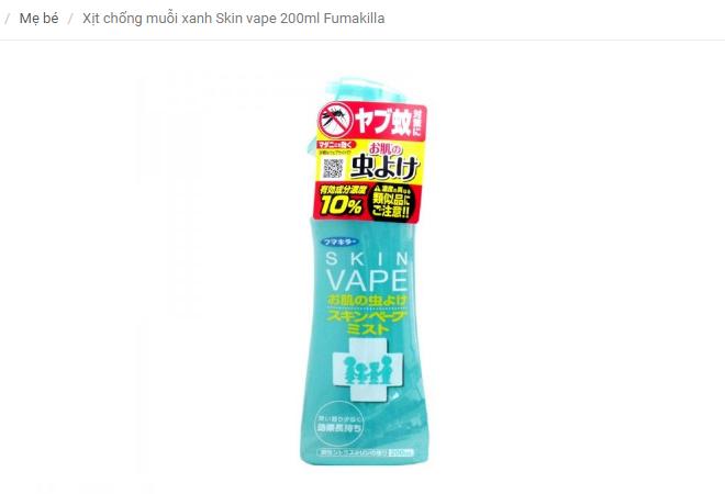skin vape chống muỗi hàng nhật